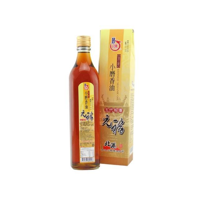 【北港 元福麻油廠】招牌頂級小磨香油(520CC/瓶)