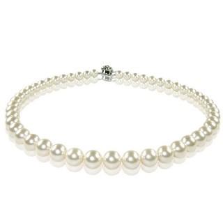 【小樂珠寶】3A南洋深海貝珍珠項鍊(白或粉色隨機出貨8-10mm熱賣萬條了)