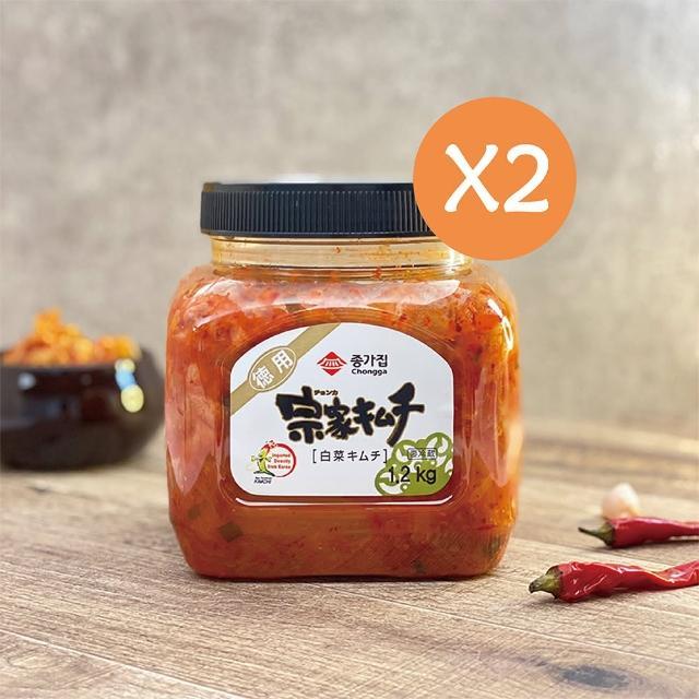 【宗家府】泡菜1.2公斤-日式風味 x2罐(甘甜口味)