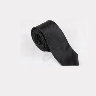 【拉福】斜紋6cm中窄版領帶手打領帶(黑色)