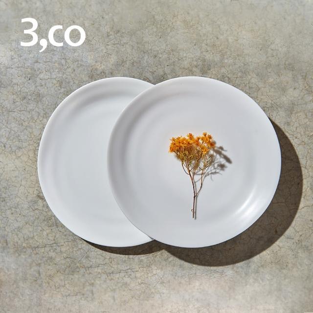【3 co】水波麵包盤-白+白(2件式)