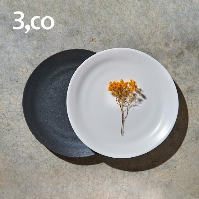 【3 co】水波麵包盤-白+黑(2件式)