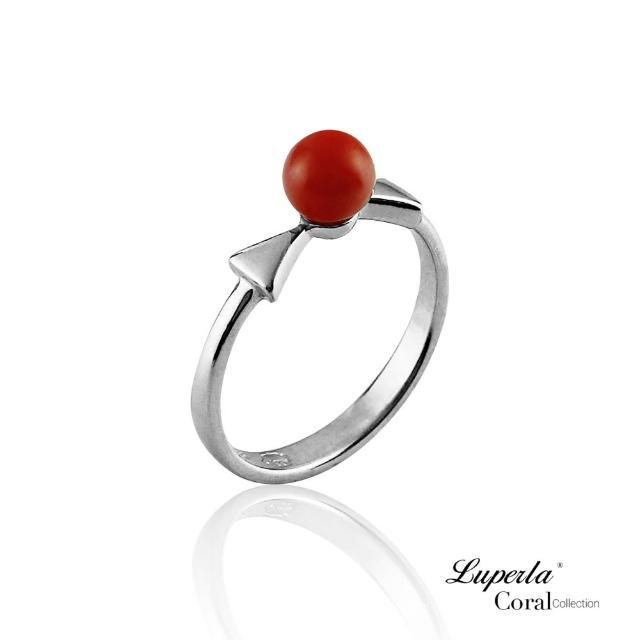 【大東山珠寶】雙星報喜全紅珊瑚純銀戒指(天然全紅沙丁珊瑚)