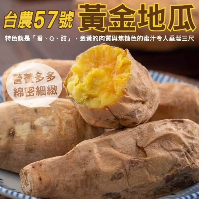 【小農直配】台農57號黃地瓜(平箱裝10斤±10%)