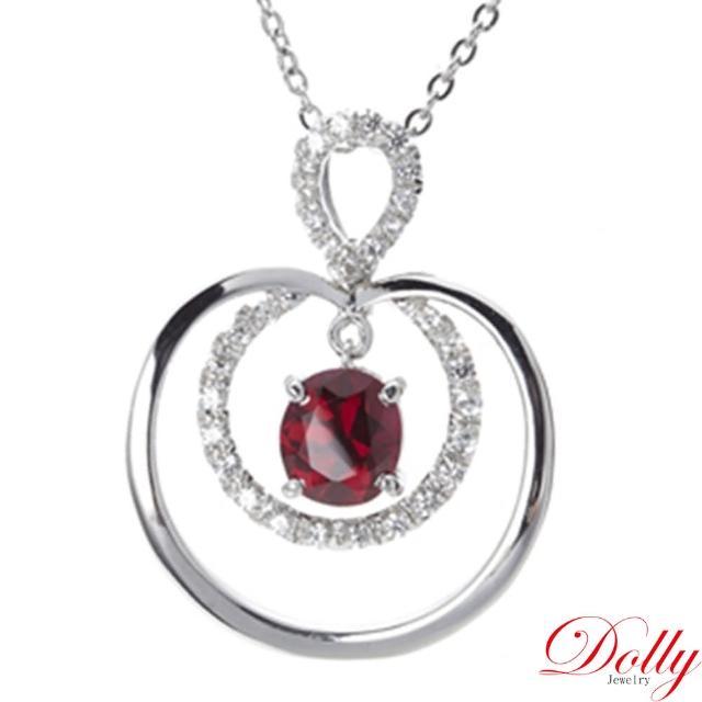 【DOLLY】無燒 尖晶石1克拉 銀飾項鍊(002)