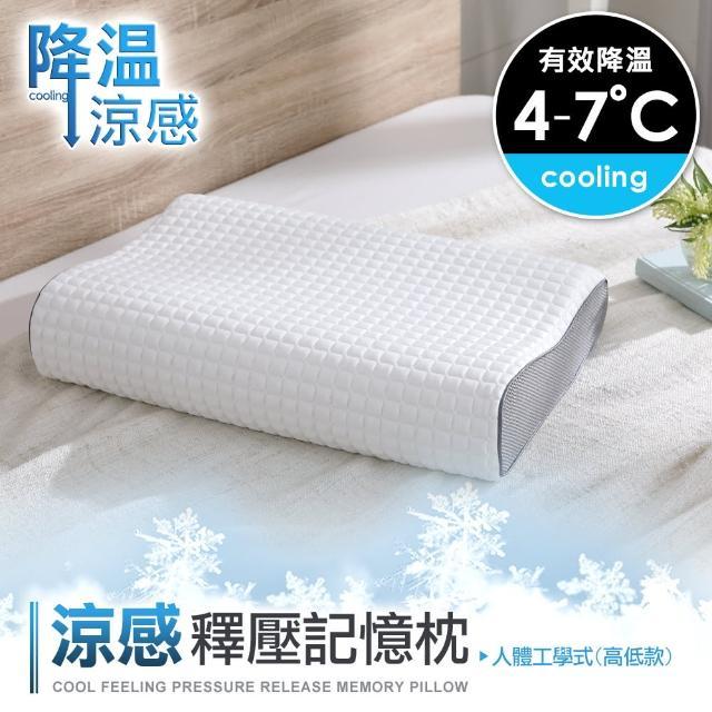 【DON】涼感釋壓記憶枕-單入(兩款任選)
