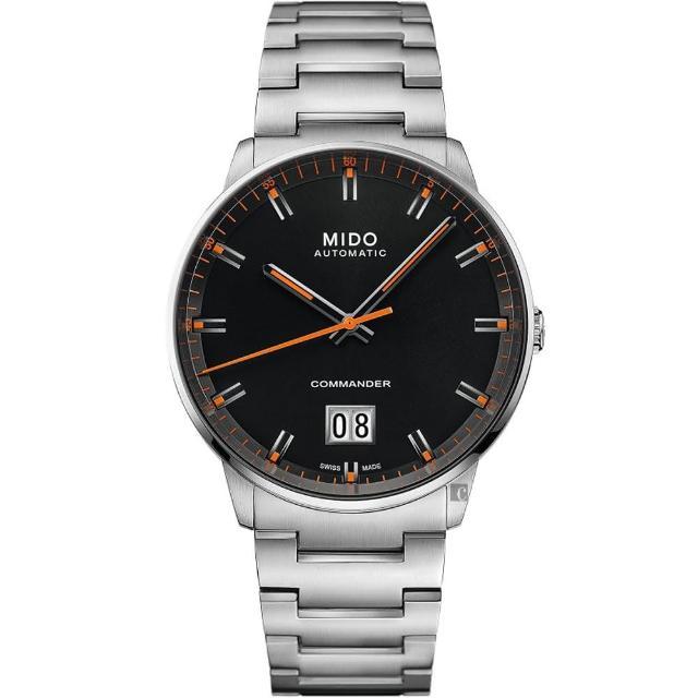 【MIDO 美度】COMMANDER 香榭系列大日期機械錶-42mm(M0216261105100)