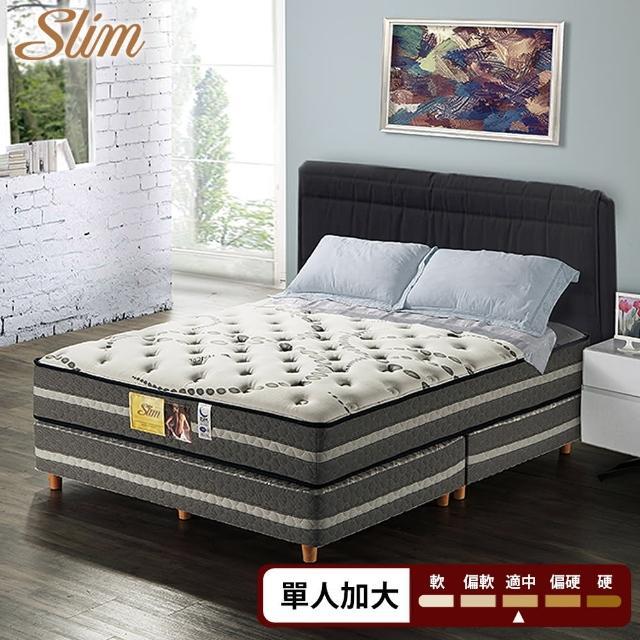 【SLIM 加厚型】天絲銀離子抗菌紓壓獨立筒床墊(單人加大3.5尺)-618限定防疫好眠