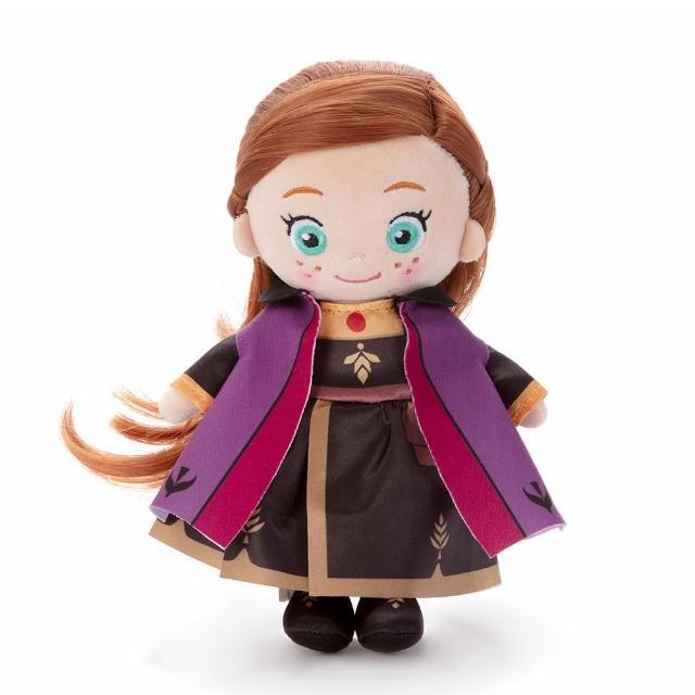 【TAKARA TOMY】迪士尼 冰雪奇緣2 安娜梳髮絨毛娃娃(卡通 人偶)
