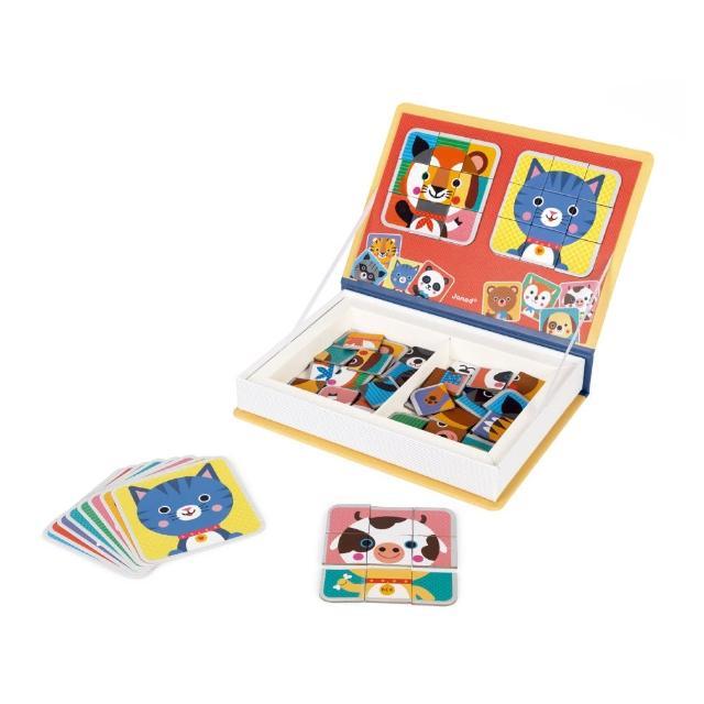 【Janod】磁鐵遊戲書-動物拼圖