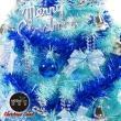 【摩達客】台灣製3呎/3尺90cm豪華版冰藍色聖誕樹+銀藍系配件組+6吋小鹿組(不含燈)
