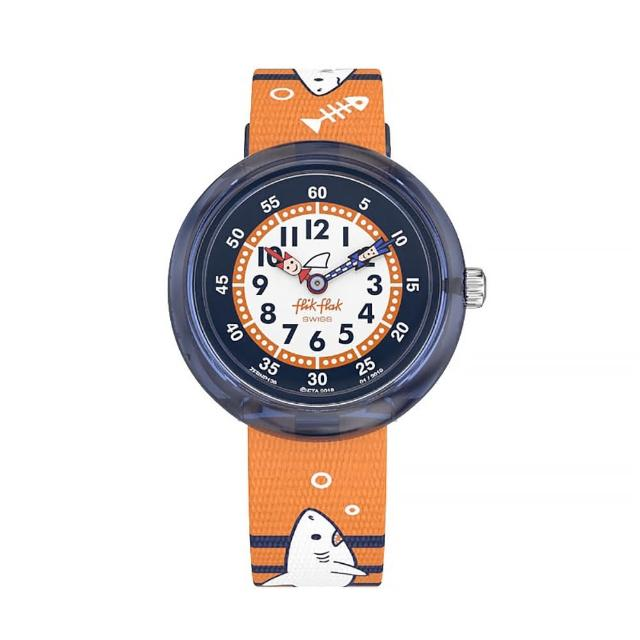 【Flik Flak】兒童錶 HUNTED WATER 巡弋大白鯊 菲力菲菲錶(31.85mm)