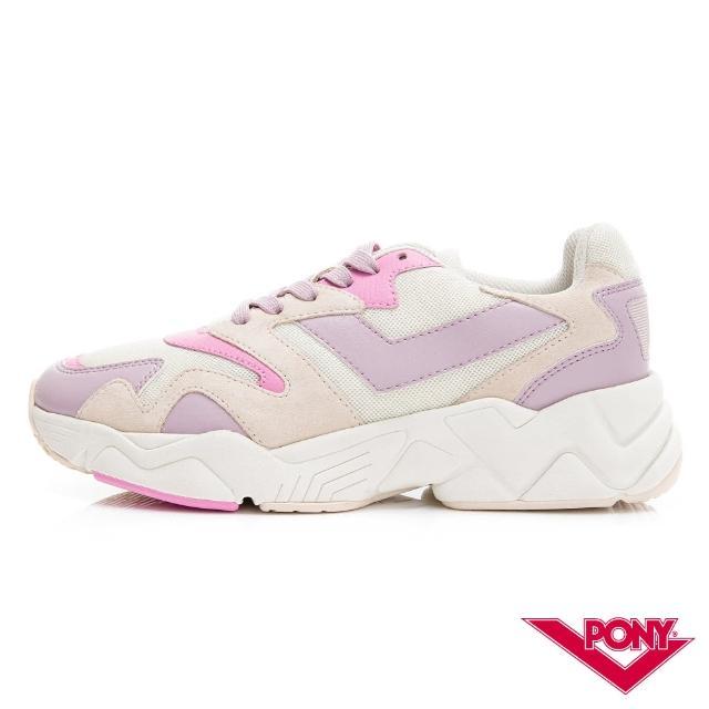 【PONY】MODERN 2系列-玩轉撞色潮流運動鞋 老爹慢跑鞋 球鞋 女款 粉紅紫