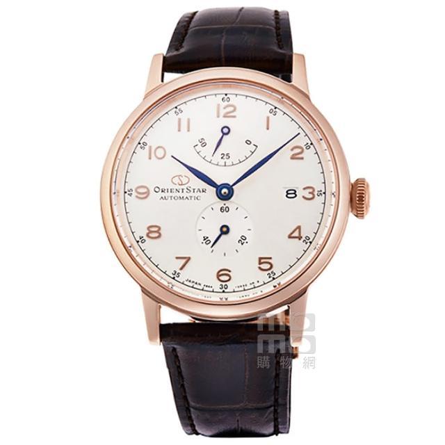 【ORIENT 東方錶】東方錶ORIENT STAR 東方之星經典復刻機械皮帶錶-玫瑰金框白面(RE-AW0003S)