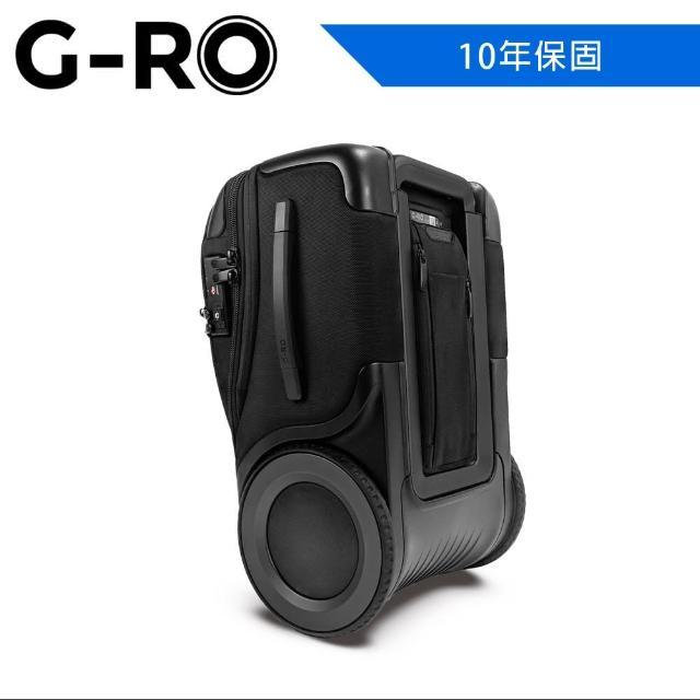 【G-RO】G-RO Hero 登機箱 黑/黑(G-RO 登機箱 大滾輪 大空間)