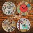 【Meric Garden】風格仿舊裝飾壁掛式時鐘/壁鐘/掛鐘(多色任選)