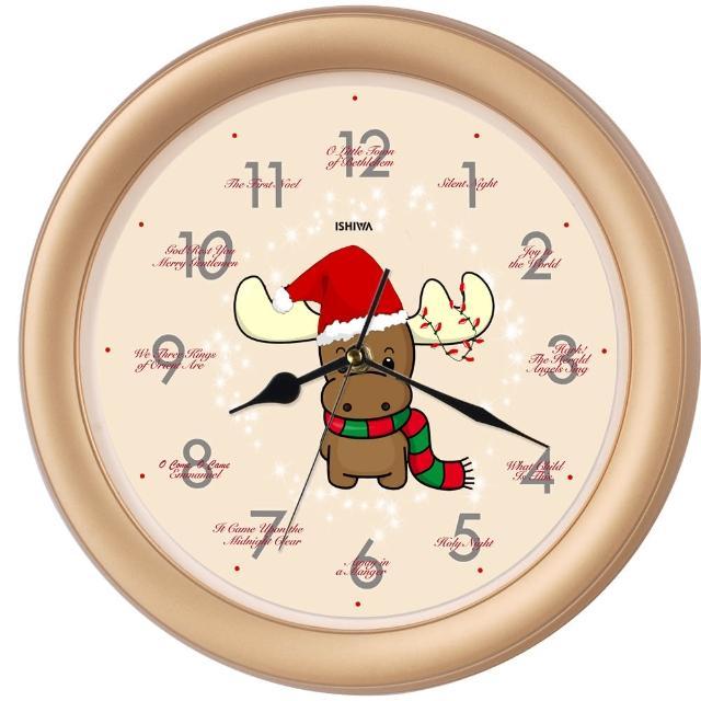 【鐘情坊 JUSTIME】聖誕精選 可愛小鹿 音樂掛鐘(歡樂耶誕節 裝飾 創意時鐘)