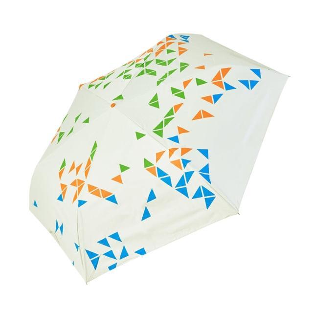 【rainstory】-8°降溫凍齡手開輕細口紅傘-撞色幾何-綠(遮光色膠系列)