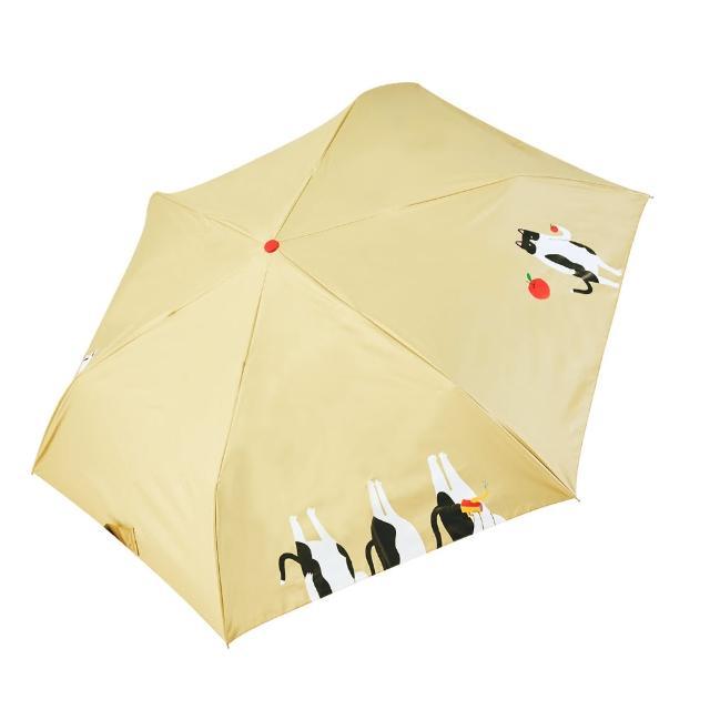 【rainstory】-8°降溫凍齡個人自動傘-蘋果貓(遮光色膠系列)
