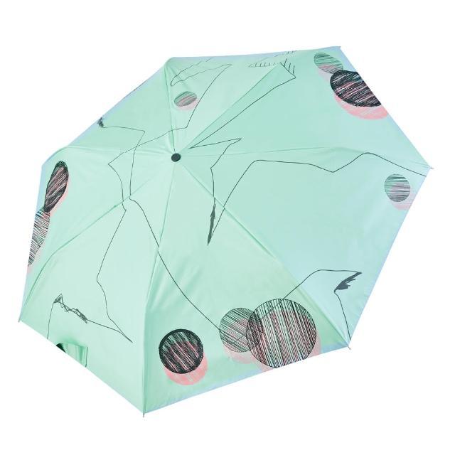 【rainstory】-8°降溫凍齡個人加大自動傘-夢幻線條(遮光色膠系列)