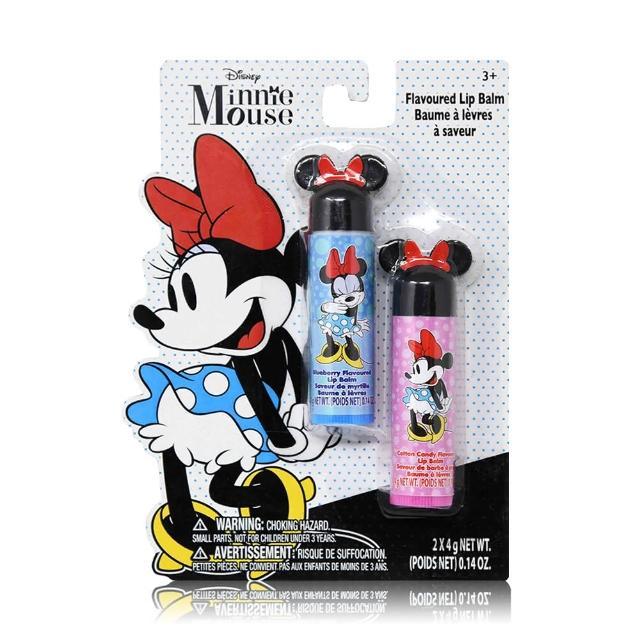 【Disney Minnie】護唇膏 4gx2入(新耳朵造型)