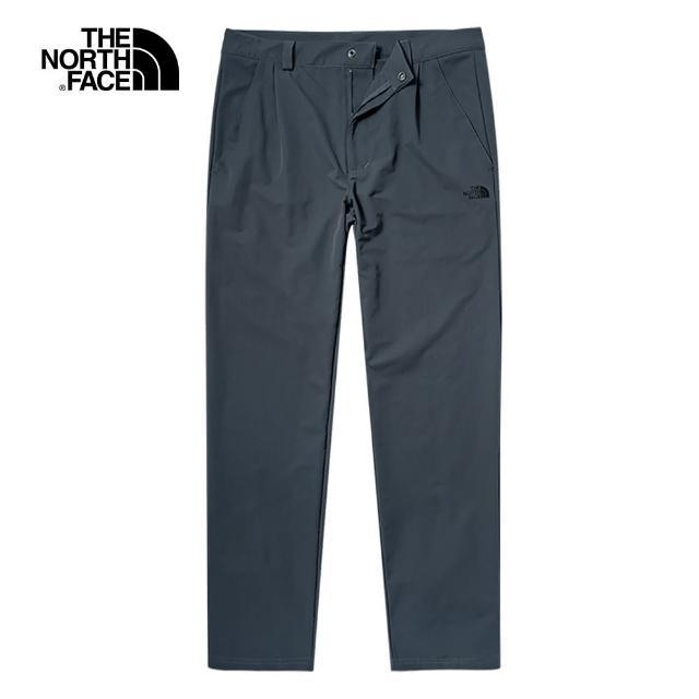 【The North Face】The North Face北面男款藍色吸濕排汗休閒長褲|5JTU174