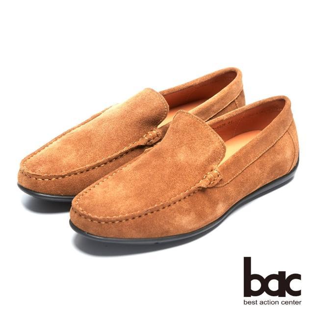 【bac】真皮質感時尚品味真皮帆船鞋(駝色)