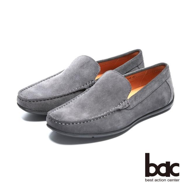 【bac】真皮質感時尚品味真皮帆船鞋(灰色)