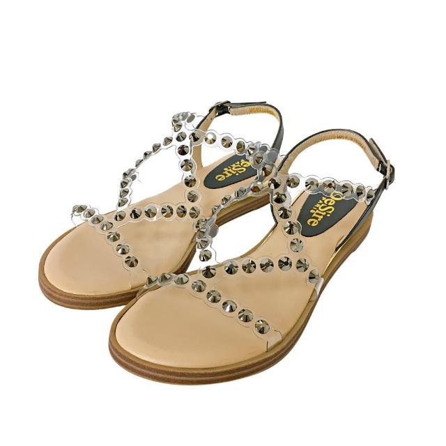【DeSire】時尚透明細帶平底涼鞋-黑(0137102-99)