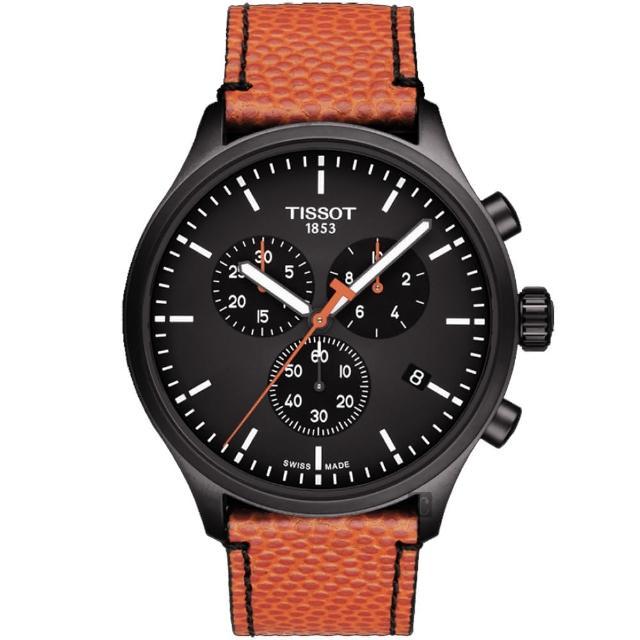 【TISSOT 天梭】韻馳系列 CHRONO XL 計時 NBA 限定款收藏家紀念錶-45mm(T1166173605108)