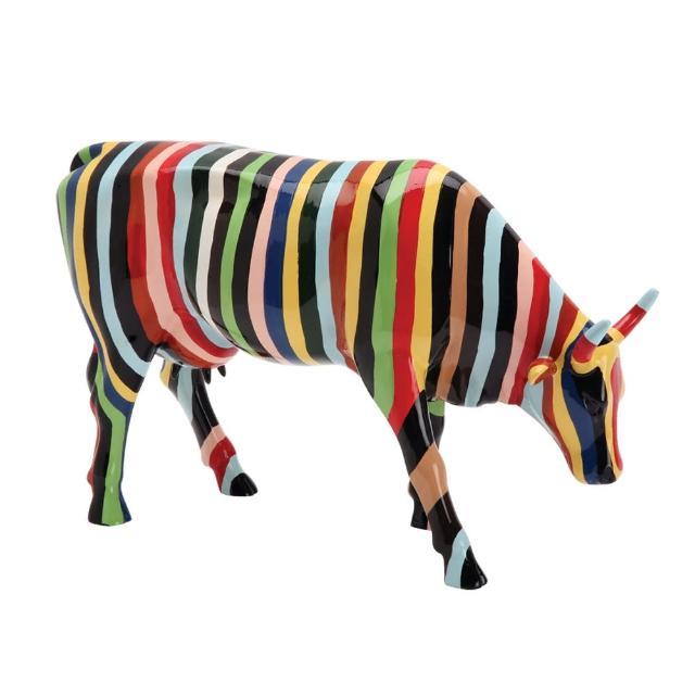 【富邦藝術基金會】2021限量藝術牛:條紋牛(CowParade 牛年 過年 送禮)