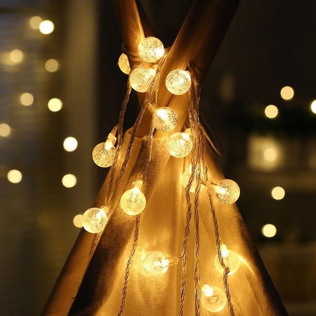【聖誕布置/半島良品】24H發貨/1.5米水晶燈/燈串/聖誕燈/裝飾燈(掛布 過年 新年 聖誕燈 生日燈 佈置)