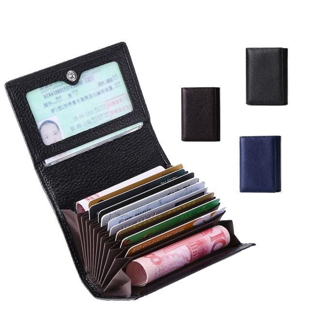 【玩皮工坊】真皮頭層荔枝紋牛皮11卡位卡片證件夾卡夾卡套CB52(3色可選)