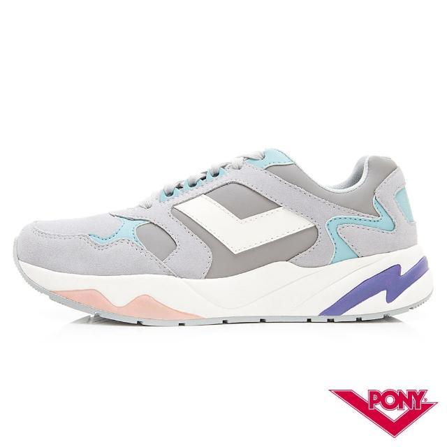 【PONY】Modern系列-復古運動鞋 老爹慢跑鞋 潮流 舒適 球鞋-女-灰