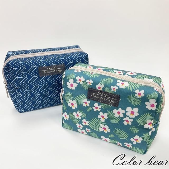 【卡樂熊】布質方形質感造型化妝包/收納包(兩款)