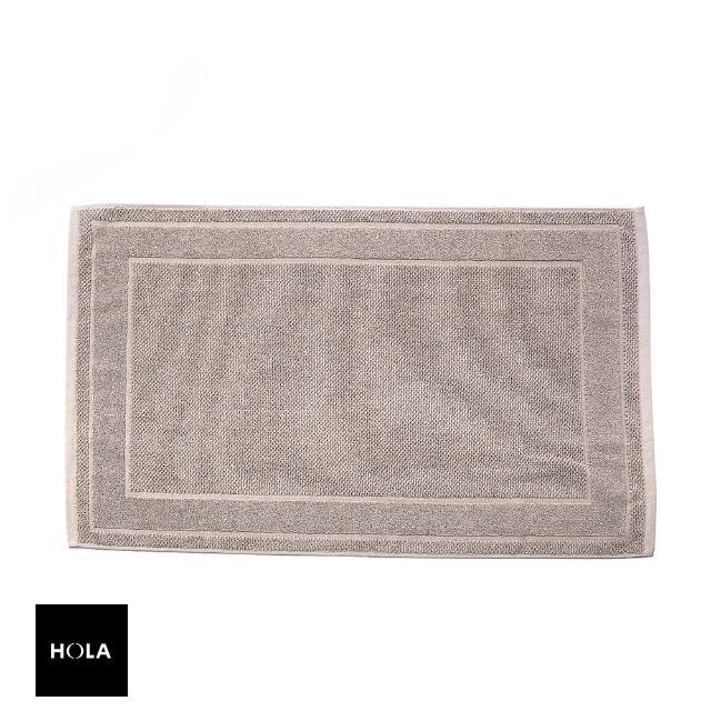 【HOLA】葡萄牙純棉緹花毛巾踏墊50x80cm 框紋卡其