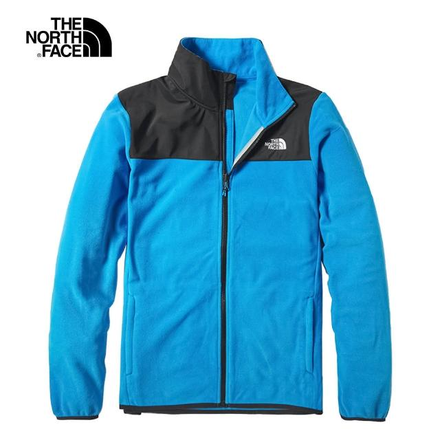【The North Face】The North Face北面男款湖水藍保暖抓絨外套|49AEW8G