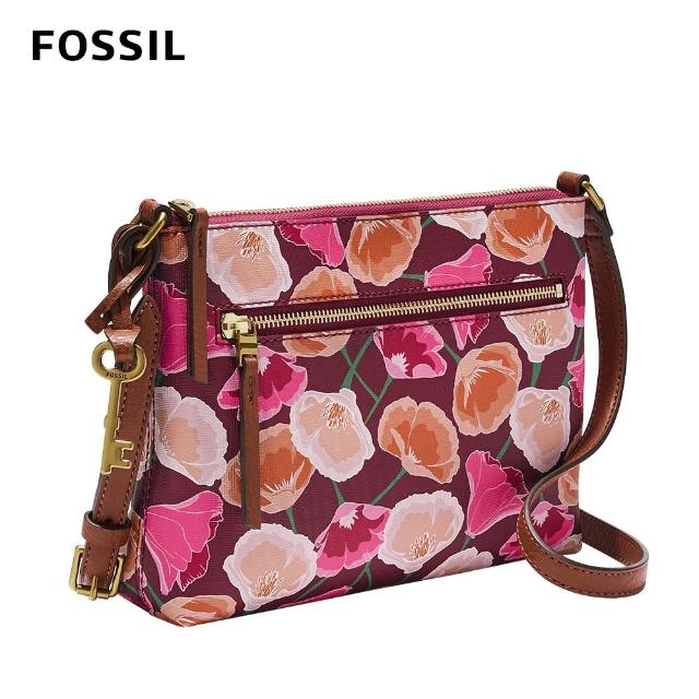 【FOSSIL】Fiona 輕便休閒斜背包-粉色花卉 ZB1539664