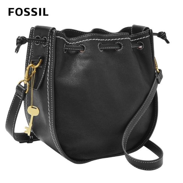 【FOSSIL】Palmer 真皮束口小籠包-黑色 ZB7981001