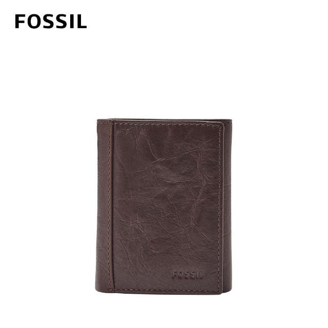 【FOSSIL】Neel 真皮多功能三折皮夾-咖啡色 ML3869200