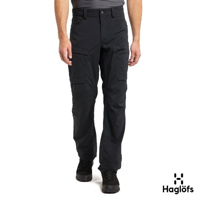 【Haglofs】男 Mid Fjord 防潑水 快乾長褲(黑色)