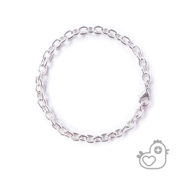 【彩糖貝貝】彩糖貝貝 K白色個性橢圓形手鍊(閨蜜 親子)