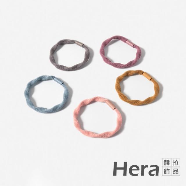 【HERA 赫拉】小清新高彈純色髮圈鴨腸髮飾-隨機色6入組#H100414A(隨機出色 多入組合)