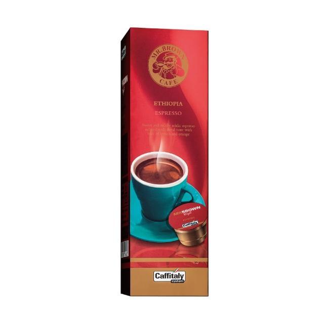 【MR.BROWN 伯朗】義式咖啡膠囊 衣索比亞(10入/盒)