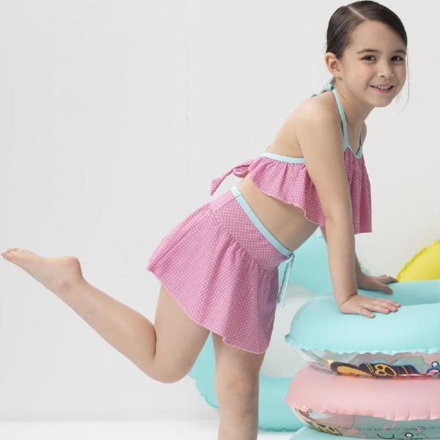 【SARBIS】女童兩截式泳裝附泳帽(B822011)