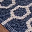 【HOLA】雙層緹花編織兩用地墊 80x150cm 幾何藍