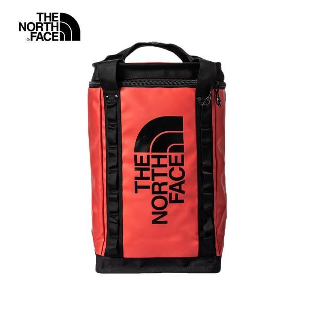 The North Face【The North Face】經典ICON-The North Face北面男女款紅色箱型休閒後背包 3KYVKZ3