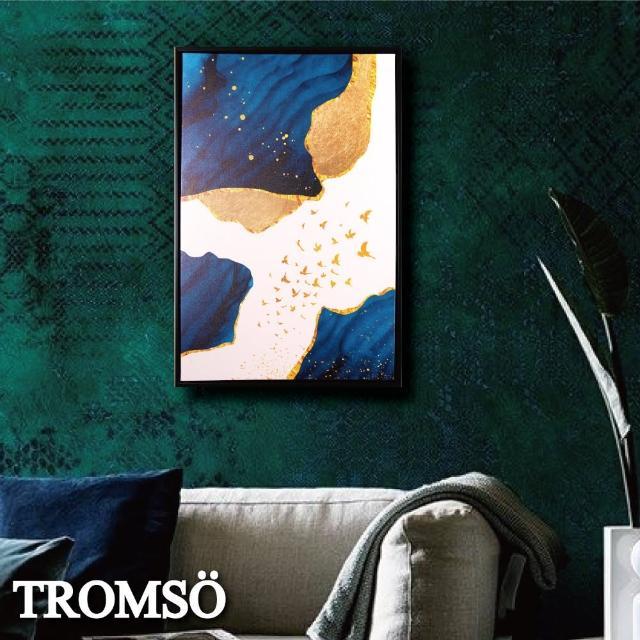 【TROMSO】北歐時代風尚有框畫-峽頂鉑金WA165(無框畫掛畫掛飾抽象畫)