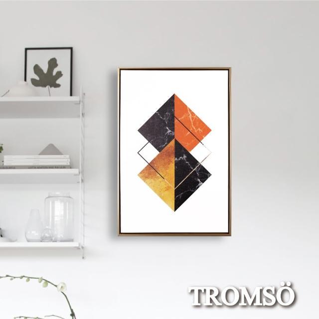 【TROMSO】北歐時代風尚有框畫-日月方呈WA176(無框畫掛畫掛飾抽象畫)