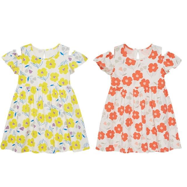 【麗嬰房】EASY輕鬆系列 女童神秘花園花花洋裝(黃色/紅色 76cm~130cm)